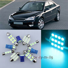 Ice Blue Car Auto Light Interior Package 11X for FORD MONDEO MK 3 2000-2007 LA