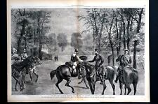 Crown Prince of Prussia 1870 PRESENTING IRON CROSS at VERSAILLES Print Engraving