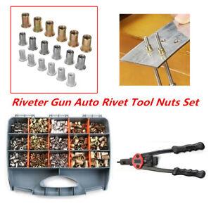 900PCS Riveter Gun Auto Rivet Tool Nuts Insert Mandrel Kit M3 M4 M5 M6 M8 M10