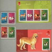 Hong Kong 2006 China Lunar New Year of Dog Stamps + 2 S/S