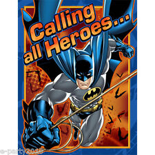 BATMAN INVITATIONS & THANK YOU CARDS (8) ~ Birthday Party Supplies Stationery