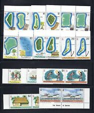 TUVALU 1976 DEFINITIVES Scott 22-37 in PAIRS VF MNH