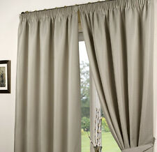 Impressions Waffle Taupe Fully Lined Readymade Curtain Pair 66x90in167x228cm