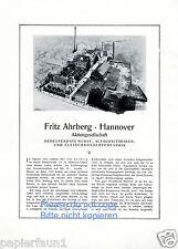 Wurstfabrik Ahrberg Hannover XL Reklame von 1922 Metzgerei Schlachterei Konserve