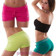 Pantaloncini donna sport shorts fitness DANCE palestra STRASS danza nuovi FC-6