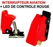 Interrupteur Aviation Rouge + LED RAID 4X4 HDJ KDJ PATROL LAND JEEP PAJERO L200