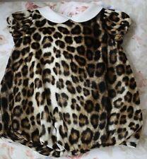 Roberto CAVALLI Baby Leopardato Velluto BUBBLE Abito 3 mesi