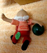Estate Find Avon Elves Day Off Bowling Ornament
