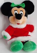 "New listing Vintage 1980s Walt Disney Christmas Minnie Mouse 13"" Seated Plush Stuffed Toy"
