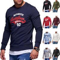 Jack & Jones Herren Sweatshirt O-Neck Label Print Sweater Langarmshirt Herrentop