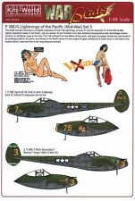 NEW 1:48 Kits World Decals 48208 Lockheed P-38 Lightning's of the Pacific Set 3