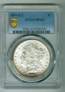U.S. 1891-CC MORGAN DOLLAR TOP 100 VAM 3 SPITTING EAGLE PCGS MS-62 UNC