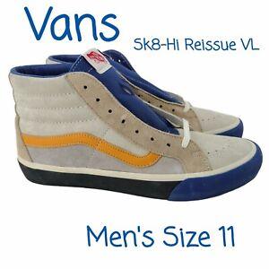 Vans by Vault Sk8-Hi Reissue Sneaker Shoe Mens 11 NEW Suede/Leather Blue/Ginger