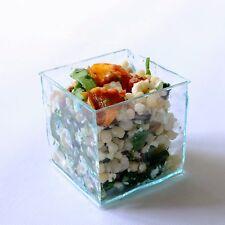 Glass Effect Mini Cube Dish: Stylish Party Tableware