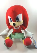"Sega Sonic The Hedgehog Video Game Knuckles Red 12"" Plush Stuffed Figure Toy"
