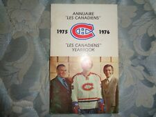 1975-76 MONTREAL CANADIENS MEDIA GUIDE YEARBOOK 1976 NHL CHAMPS! Program Book AD
