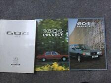 1976 PEUGEOT 604 SL V6 Brochure plus 604 and 604 STI BROCHURE