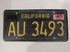 1963-1970 YOM California Trailer License Plate DMV Clear Confirmed CA RV AU3493