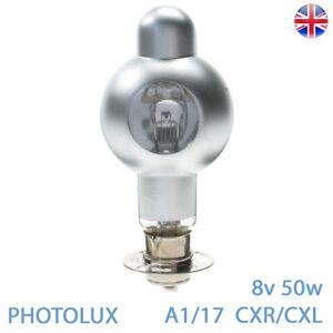 A1/17 8v 50w P30s CXR CXL PHOTOLUX 8mm Cine Projector Bulb Lamp A1 17 CXR CXL
