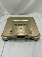 Nintendo64 Gold Console Only N64 limited RARE Tested Working TRACKING