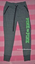 VICTORIA'S SECRET Pink Fitness Collegiate Skinny Pants XS Yoga Gray Green NWT