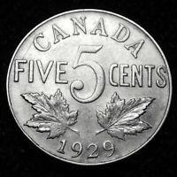 1929 Canada  5  Cents A45-637