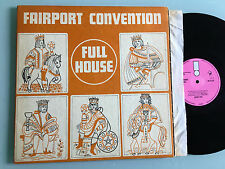"LP UK 1970 NM Fairport Convention Full House TEXTURED GATEFOLD SLEEVE PINK ""I"""