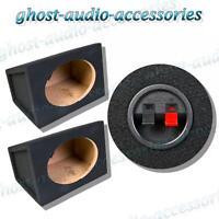 """Pair of 6x9"""" Speaker Bass Box Enclosure Black Carpet 15mm MDF Enclosures 6 x 9"""
