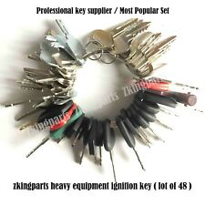 New !! 48 Keys Heavy Equipment / Construction Ignition Key Set Starter Key Set