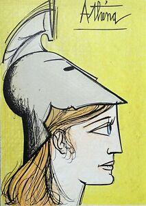 Buffet Bernard: Athena - Lithografie Originell - Referenziert, 1967, Mourlot