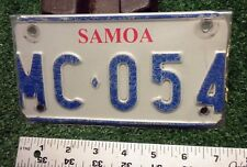 MOTORCYCLE LICENSE PLATE -  Samoa 2000 (Western) - great USED example, tough one