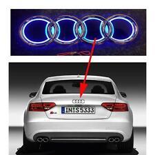 Azul 5 D Emblema Insignia traseras LED 18.5cm X 8.5cm con logotipo de luz anillos de AUDI Actualización Nuevo