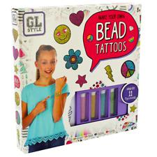 Bead Tattoos Girls Kit Set NEW Game Make Your Own Beady Shimmer Body Art