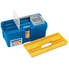 "Draper 16"" Polypropylene Tool / Organiser Box with Tote Tray 11497"
