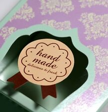 "30 pcs ""Hand Made Delicious & Fresh"" sticker Party bages/ Gift Favour Boxes"