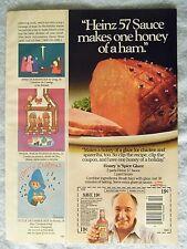 1985 Magazine Advertisement Page Heinz 57 Sauce Honey Ham Dinner Food Coupon Ad