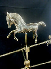 Brass Galloping Horse Weathervane Garden Roof Beautiful This is a Must See!
