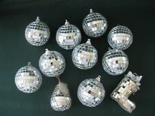 Vintage Mirrored Ornaments Lot 11 Vtg Disco Mirrored Ornaments Ball Pear Boot