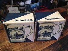 BRT Vintage 1970's Heineken Delft Holland Pottery Beer Mug Stein Hand Painted