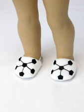 """Soccer Ball Sports Slippers Shoes Fits 18"""" American Boy or Girl Doll Clothes"""