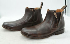 BED STU HANDCRAFTED Mens Sz 8.5 Brown Leather Sleek Ankle Boots Booties