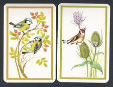 #850.126 vintage swap card -MINT pair- Yellow breasted Robins and Goldfinch