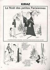 ▬► Dessin Humoristique KIRAZ Le Noël des petites Parisiennes 1981