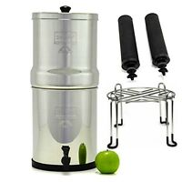 Big Berkey Water Purifier System w/2 Black Filters & Stainless Steel Wire Stand