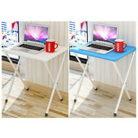 Folding Table Computer Desk Office Portable Work Table white/blue