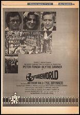 FUTUREWORLD__Original 1976 Cannes Trade AD / poster__YUL BRYNNER__BLYTHE DANNER