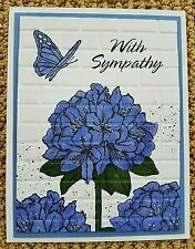 Stampin Up Handmade WITH SYMPATHY Greeting CARD KIT Hydrangea Flowers