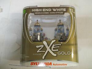 NEW Sylvania Silverstar ZXE GOLD H13 Pair Set Headlight Bulbs Xenon Fueled NEW