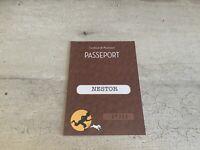 Passeport figurine Tintin n°27325. Nestor. Commune de Moulinsart.