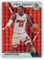 2019-20 KENDRICK NUNN 02/88 PANINI MOSAIC NBA DEBUT RED ROOKIE RC #268